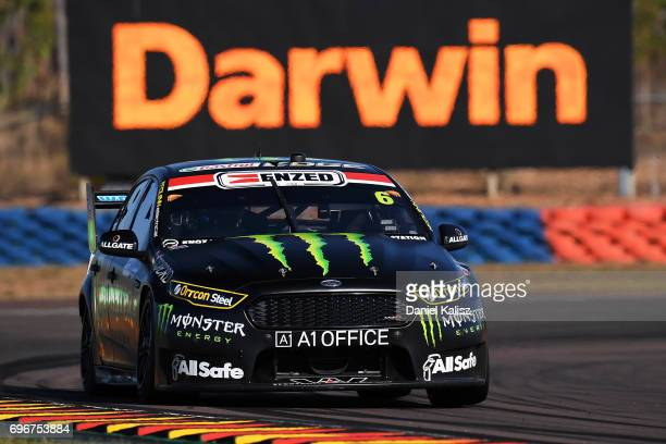 Cameron Waters drives the Monster Energy Ford Falcon FGX during practice 3 for the Darwin Triple Crown which is part of the Supercars Championship at...