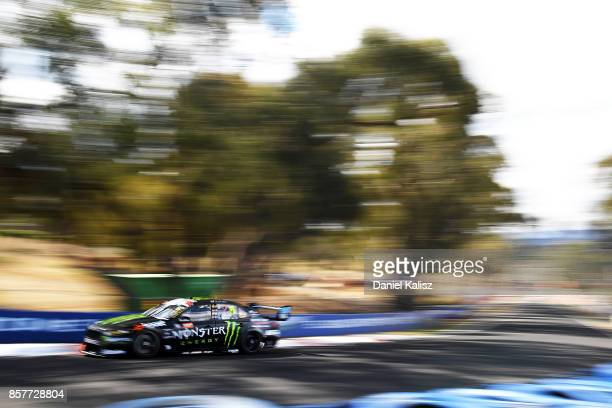 Cameron Waters drives the Monster Energy Ford Falcon FGX during practice ahead of this weekend's Bathurst 1000 which is part of the Supercars...