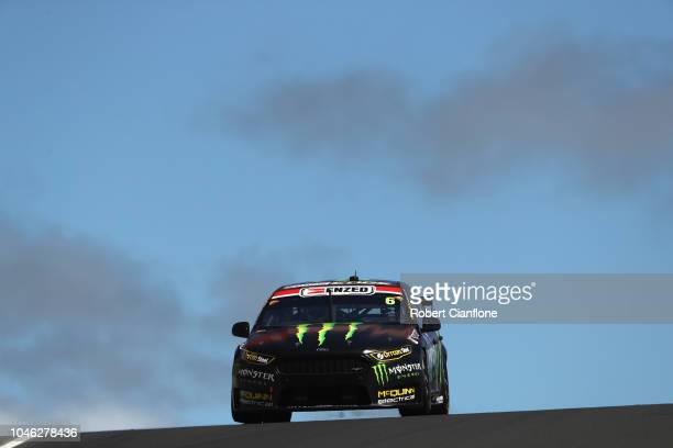 Cameron Waters drives the Monster Energy Racing Ford Falcon FGX during practice for the Bathurst 1000 which is part of the Supercars Championship at...