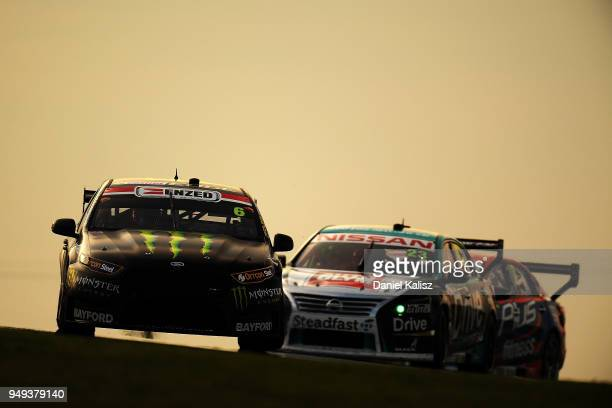 Cameron Waters drives the Monster Energy Racing Ford Falcon FGX during the Supercars Phillip Island 500 at Phillip Island Grand Prix Circuit on April...