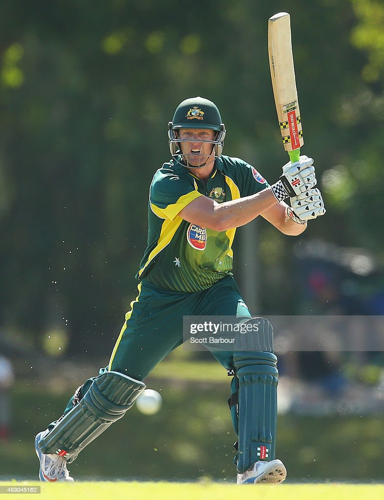 Cameron White of Australia 'A' bats during the Cricket Australia Quadrangular Series Final match between Australia 'A' and India 'A' at Marrara Oval on August 2, 2014 in Darwin, Australia.