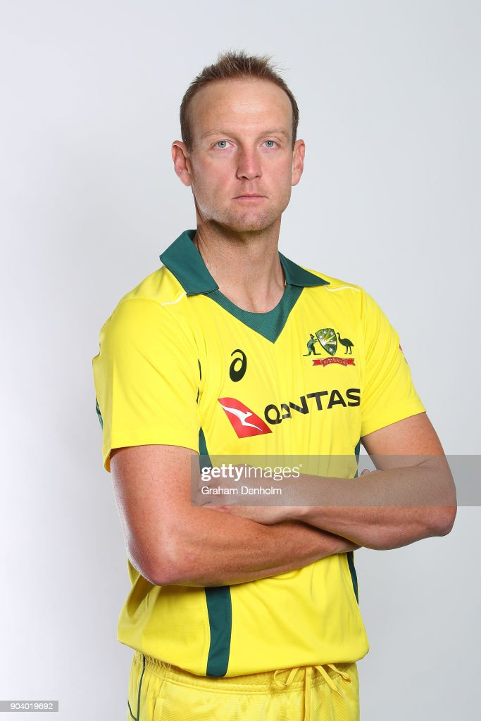 Cameron White of Australia poses during an Australia One Day International headshots session at the Melbourne Cricket Ground on January 12, 2018 in Melbourne, Australia.
