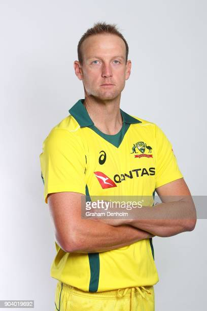 Cameron White of Australia poses during an Australia One Day International headshots session at the Melbourne Cricket Ground on January 12 2018 in...