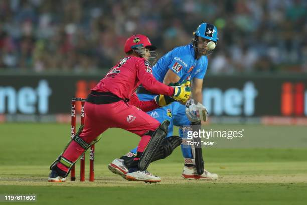 Cameron White of the Adelaide Strikers bats during the Big Bash League match between the Sydney Sixers and the Adelaide Strikers at Coffs...
