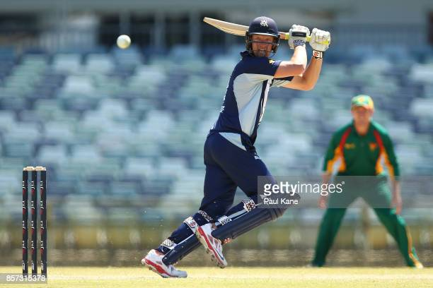 Cameron White of the Bushrangers bats during the JLT One Day Cup match between Victoria and Tasmania at WACA on October 4 2017 in Perth Australia