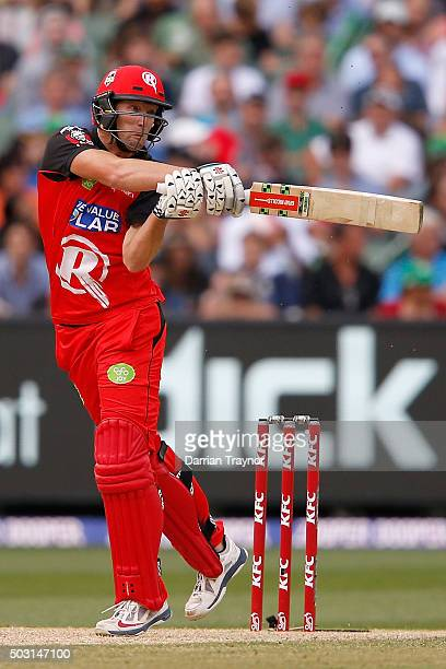 Cameron White of the Melbourne Renegades bats during the Big Bash League match between the Melbourne Stars and the Melbourne Renegades at Melbourne...
