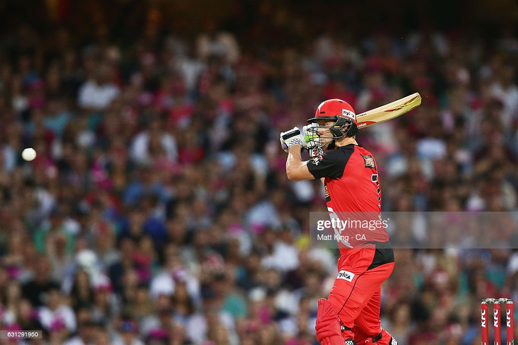 Cameron White of the Renegades bats during the Big Bash League match between the Sydney Sixers and the Melbourne Renegades at Sydney Cricket Ground on January 9, 2017 in Sydney, Australia.