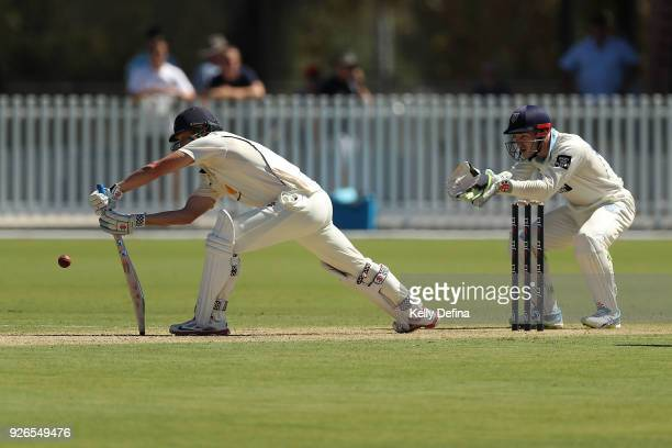 Cameron White of the VIC Bushrangers bats during day one of the Sheffield Shield match between Victoria and New South Wales at Junction Oval on March...