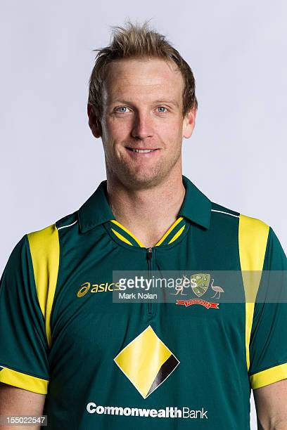Cameron White poses during the official Australian One Day International cricket team headshots session on August 9 2012 in Darwin Australia