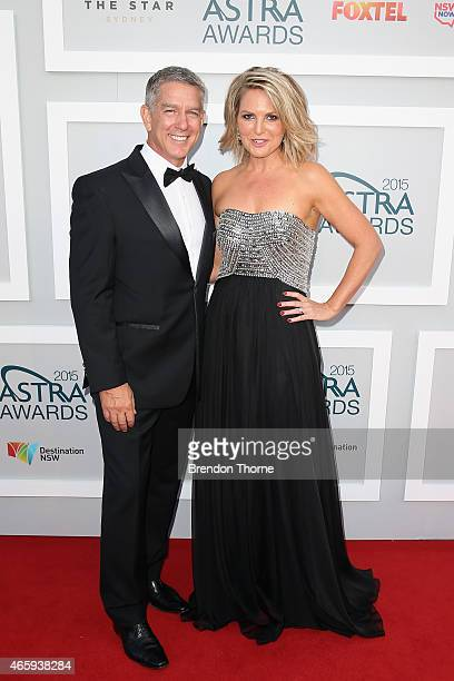 Cameron Williams and Georgie Gardner arrive at the 2015 ASTRA Awards at the Star on March 12 2015 in Sydney Australia