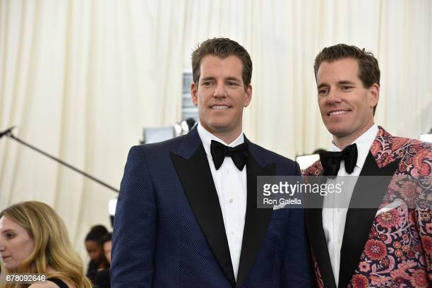 Cameron Winklevoss and Tyler Winklevoss at Metropolitan Museum of Art on May 1 2017 in New York City