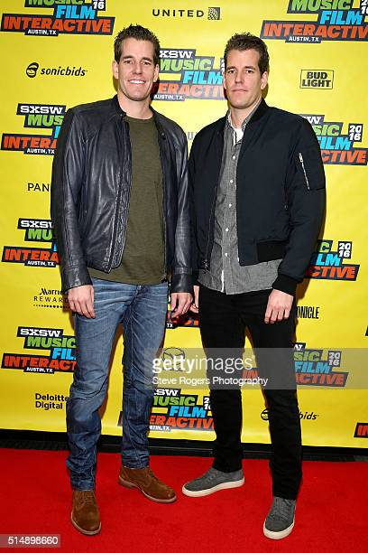 Cameron Winklevoss and Tyler Winklevoss attend 'Bitcoin Let's Cut Through the Noise Already' during the 2016 SXSW Music Film Interactive Festival at...