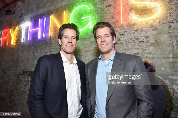 Cameron Winklevoss and Tyler Winklevoss attend Hauser & Wirth Los Angeles Opening of Annie Leibovitz and Piero Manzoni and Musical Performance by...