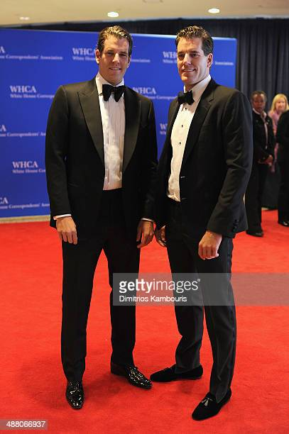 Cameron Winklevoss and Tyler Winklevoss attend the 100th Annual White House Correspondents' Association Dinner at the Washington Hilton on May 3,...