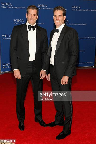 Cameron Winklevoss and Tyler Winklevoss attend the 100th Annual White House Correspondents' Association Dinner at the Washington Hilton on May 3 2014...