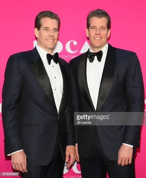 Cameron Winklevoss and Tyler Winklevoss attend the MOCA Gala 2017 on April 29, 2017 in Los Angeles, California.