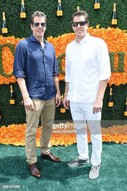 Cameron Winklevoss and Tyler Winklevoss attend the Ninth Annual Veuve Clicquot Polo Classic at Liberty State Park on June 4 2016 in Jersey City New...