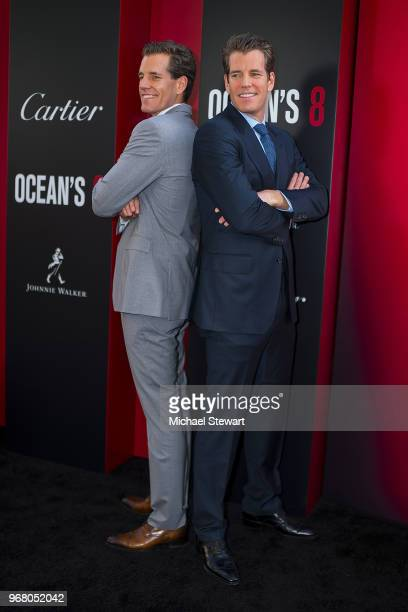 Cameron Winklevoss and Tyler Winklevoss attend the Ocean's 8 World Premiere at Alice Tully Hall on June 5 2018 in New York City