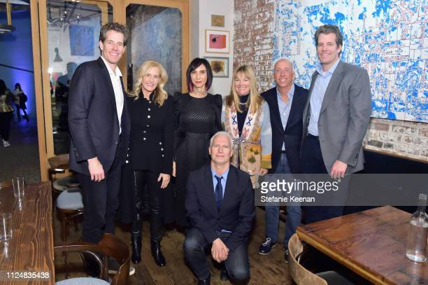 Cameron Winklevoss Carolyn Powers Maria Seferian Klaus Biesenbach Maria Bell Bill Bell and Tyler Winklevoss attend Hauser Wirth Los Angeles Opening...