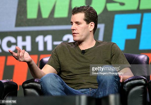 Cameron Winklevoss speaks onstage at 'Bitcoin! Let's Cut Through the Noise Already' during the 2016 SXSW Music, Film + Interactive Festival at Austin...