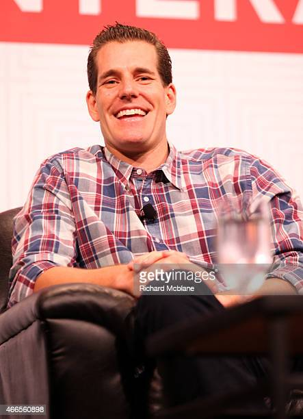 Cameron Winklevoss speaks onstage at 'Bitcoin What It Needs To Succeed' during the 2015 SXSW Music Film Interactive Festival at Austin Convention...