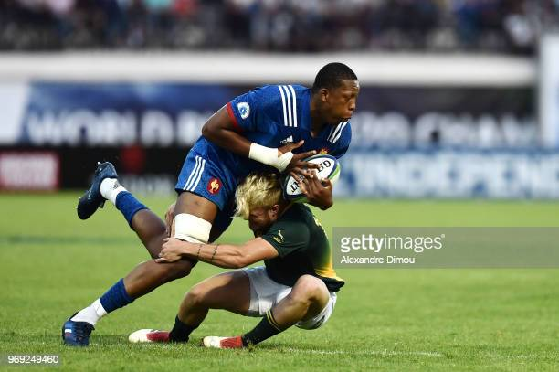 Cameron Woki of France during the U20 World Championship match between South Africa and France on June 7 2018 in Narbonne France
