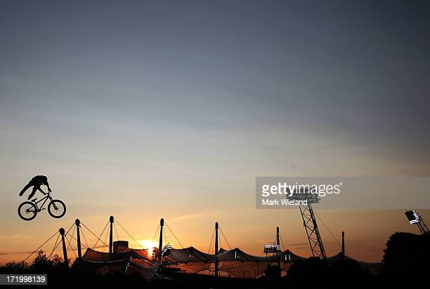 Cameron Zink of the United States competes in the Mountain Bike Slopestyle competition at Munich Olympic Park on Day 4 of the XGames on June 30 2013...