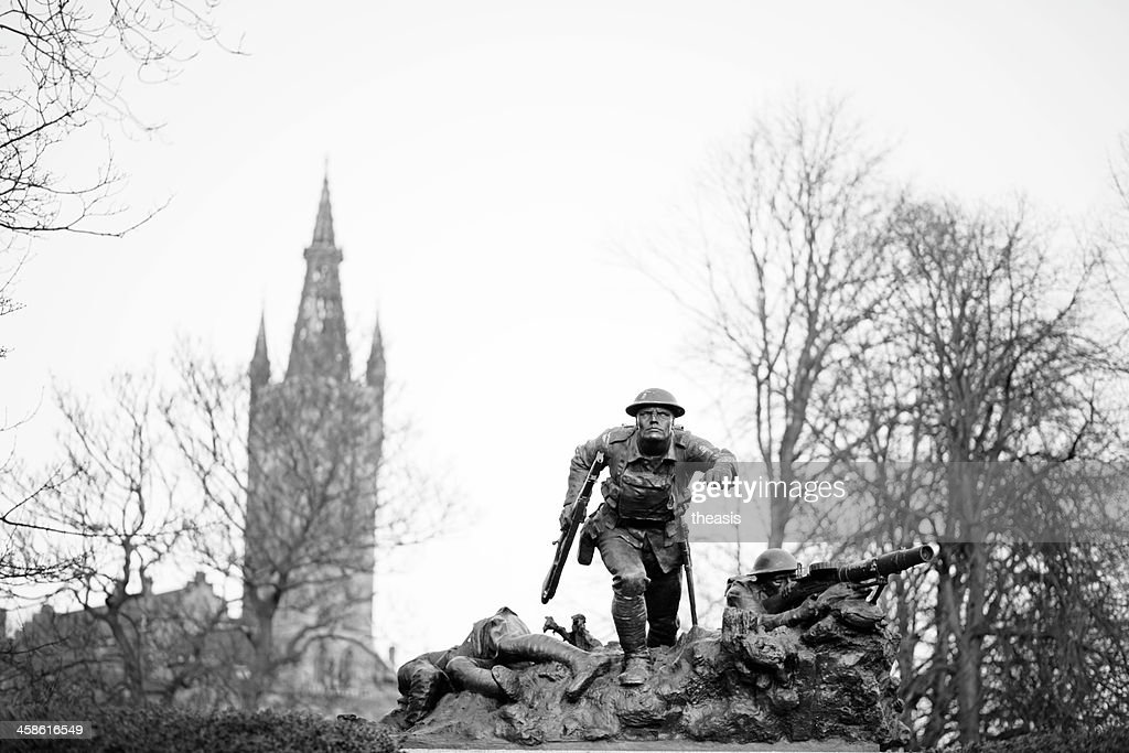 Cameronian Rifles War Memorial, Glasgow : Stock Photo