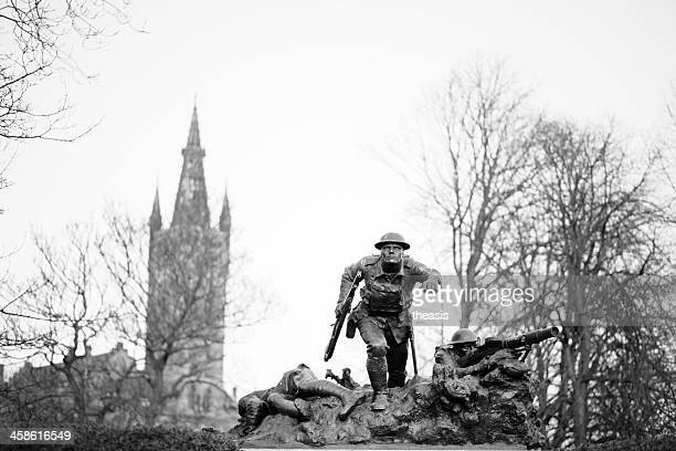 cameronian rifles war memorial, glasgow - world war i stock photos and pictures