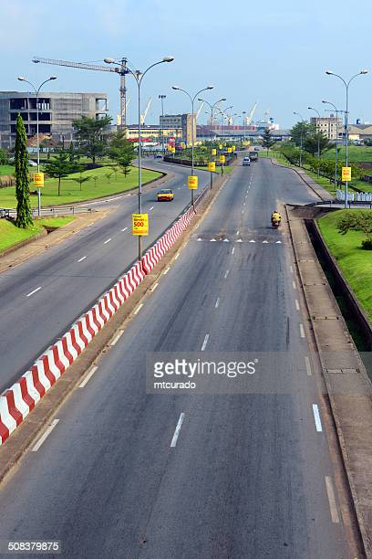 cameroon, douala: besseke street - cameroon stock pictures, royalty-free photos & images