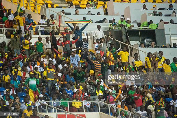 Cameroon fans celebrating the goal during first half at African Cup of Nations 2017 between Burkina Faso and Cameroon at Stade de lAmitié Sino...