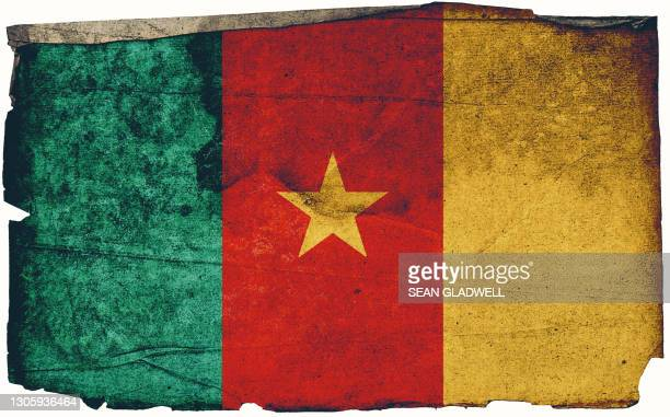 cameroon grunge flag poster - insignia stock pictures, royalty-free photos & images
