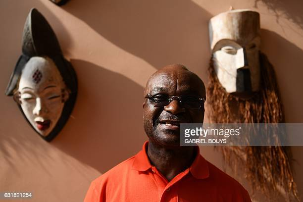 Cameroon legend Roger Milla poses in Libreville on January 16 on the sideline of the 2017 Africa Cup of Nations football tournament in Gabon / AFP /...