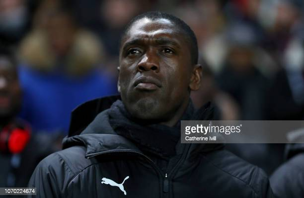 Cameroon manager Clarence Seedorf ahead of the International Friendly match between Brazil and Cameroon at Stadium mk on November 20, 2018 in Milton...