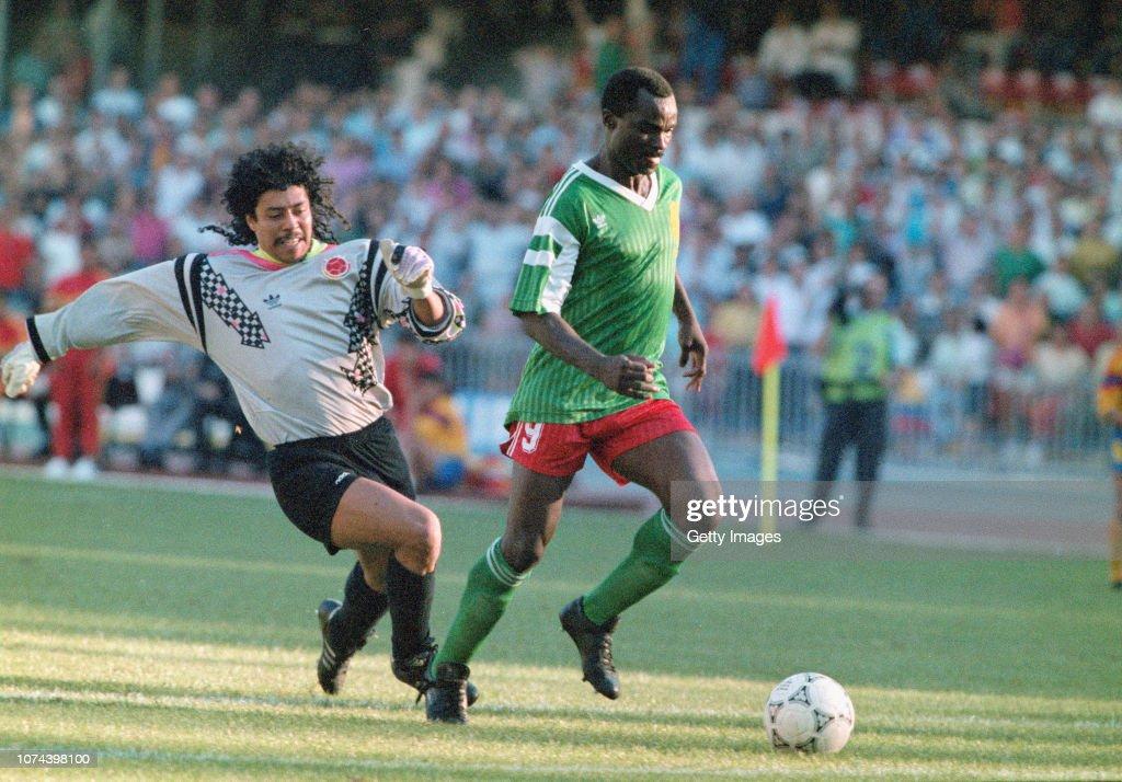 1990 FIFA World Cup Cameroon v Colombia Naples Italy : News Photo