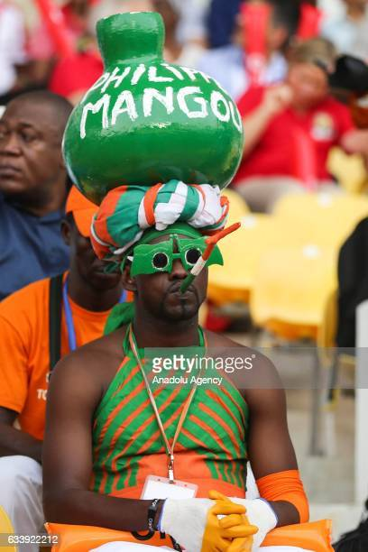 Cameroon supporter is seen ahead of the 2017 Africa Cup of Nations final football match between Egypt and Cameroon at the Stade de l'Amitie...