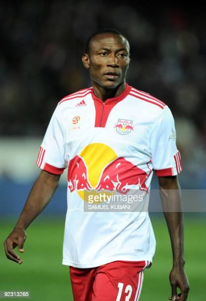 Cameroonian footballer Somen Tchoyi of Red Bull Salzburg plays on October 17 2009 in Vienna AFP PHOTO / SAMUEL KUBANI