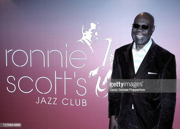 Cameroonian musician Manu Dibango attends the Ronnie Scott's Jazz Awards at Ronnie Scott's Jazz Club in Soho London on 6th May 2007