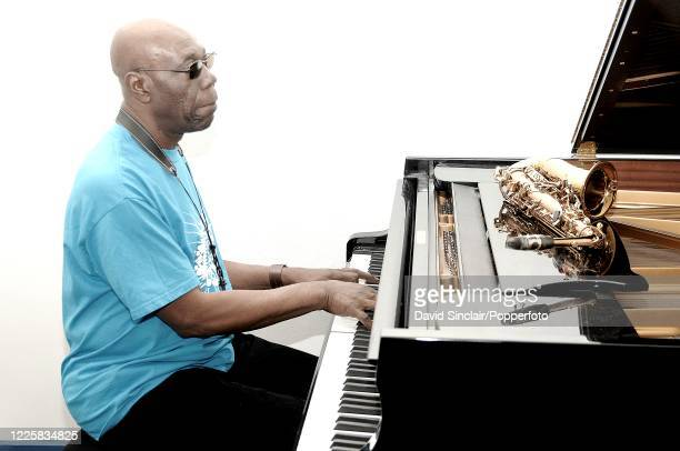 Cameroonian musician Manu Dibango performs live on stage at The Barbican in London on 18th April 2007
