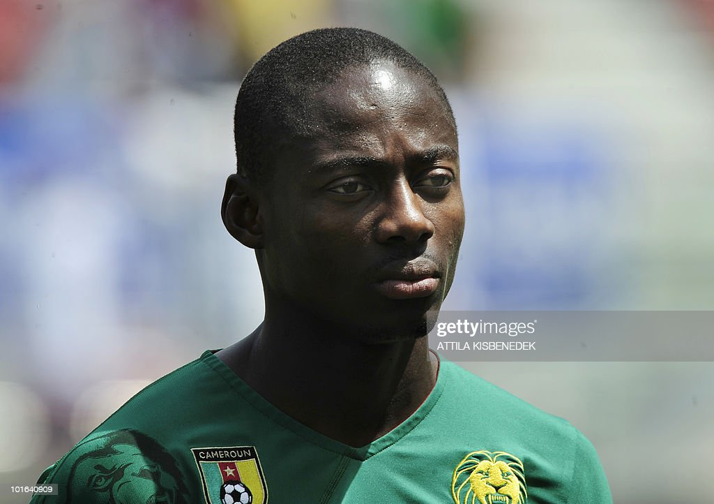 Cameroon's Enoh Eyong is pictured prior to their friendly match against Slovakia in the Hypo Arena Wörthersee Stadium of Klagenfurt on May 29, 2010 prior to the FIFA World Cup 2010 hosted by South Africa between June 11th till July 11th.