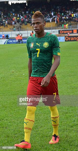 Cameroon's forward Clinton N'jie walks during the 2015 African Cup of Nations qualifying football match between Cameroon and Ivory Coast at the...