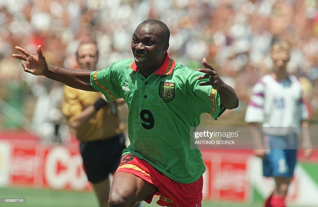 SOCCER-WORLD CUP-1994-CAMEROON-RUSSIA-ROGER MILLA : News Photo