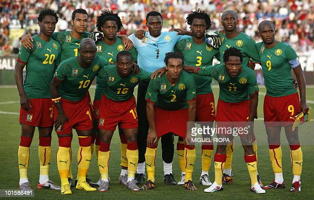 Cameroon´s national football team players Georges Mandjeck Eric ChoupoMoting Alexandre Song Dris Carlos Kameni Nicolas Nkooulou Stephane Mbia Samuel...