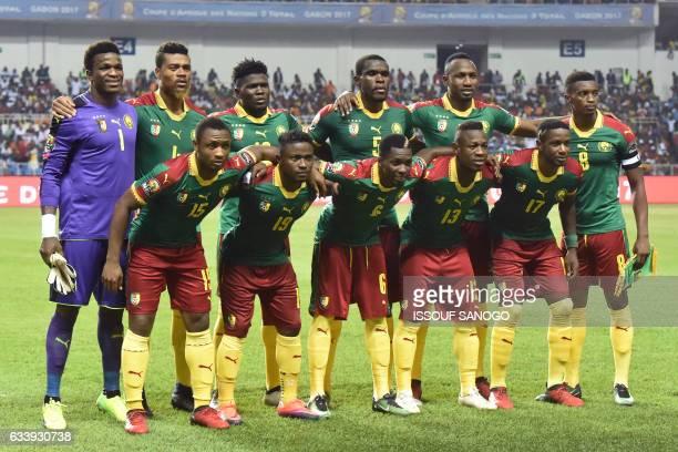 Cameroon's squad goalkeeper Fabrice Ondoa defender Adolphe Teikeu midfielder Robert Ndip Tambe defender Michael NgadeuNgadjui forward Jacques Zoua...