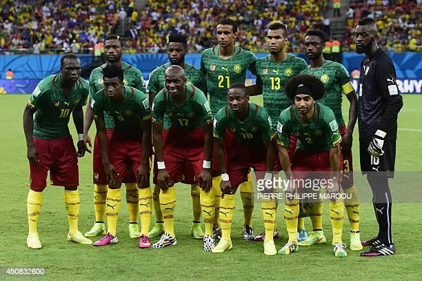 Cameroon's team defender Aurelien Chedjou midfielder Alexandre Song midfielder Joel Matip forward Eric Maxim ChoupoMoting defender Nicolas Nkoulou...
