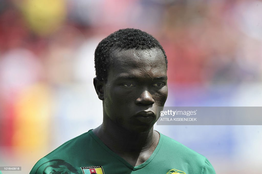 Cameroon's Vincent Aboubakar is pictured prior to their friendly match against Slovakia in the Hypo Arena Wörthersee Stadium of Klagenfurt on May 29, 2010 prior to the FIFA World Cup 2010 hosted by South Africa between June 11th till July 11th.