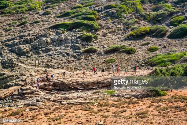 cami de cavalls path at minorca island - ミノルカ ストックフォトと画像
