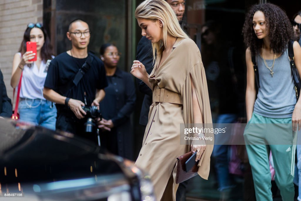 Cami Morrone seen in the streets of Manhattan outside Michael Kors during New York Fashion Week on September 13, 2017 in New York City.