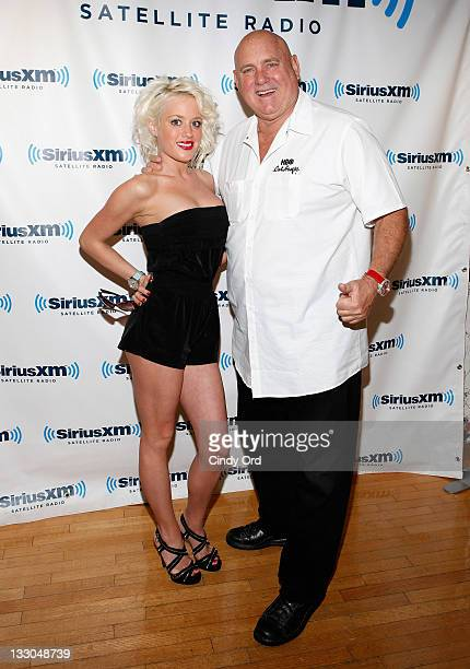 Cami Parker and Bunny Ranch founder Dennis Hof visit SiriusXM Studio on November 16 2011 in New York City