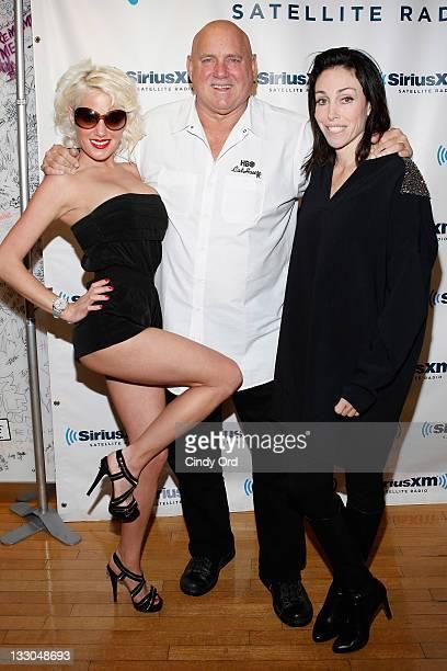 Cami Parker Dennis Hof and Heidi Fleiss visit SiriusXM Studio on November 16 2011 in New York City